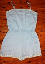 NWOT Johnnie B by Boden Powder Blue Playsuit Size 16Y+