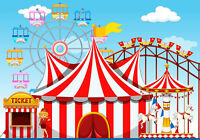 Circus Amusement Park Decor Cartoon Backdrop Photography Props Photo Background