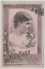 RARE- Large Advertising Trade Card French Actress - Hortense Rhea 1880s Theater