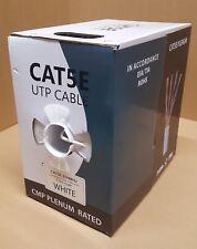 1000 FT CAT 5E PLENUM RATED BULK CAT5 CABLE WHITE - CC-CT5-WT