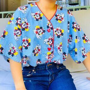 RARE Vintage Mickey Mouse Pajama Top