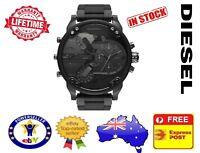 DIESEL DZ7396 MR DADDY 2.0 Black Multiple Time Zone Chronograph Mens Watch