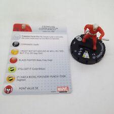Heroclix Uncanny X-Men set Crimson Commando #048 Rare figure w/card!