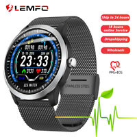 Lemfo N58 Reloj inteligente hombre Ritmo cardiaco ECG+PPG Smart Band Android iOS