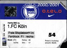 Ticket BL 2000/01 Hertha BSC - 1. FC Köln, 30.09.2000