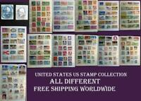 United States US Stamp Collection, Free Shipping Worldwide, ALL Different