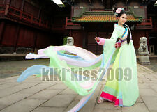 China Tang Kimono Green Fairy Dancing Dress Cosplay Custom Made Chinese Han Fu