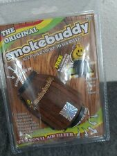 The Original Smoke Buddy Personal Air Filter Wood Color W/ Free Keychain