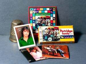 Dollhouse Miniature 1:12 scale Partridge Family Game & David Cassidy Set albums