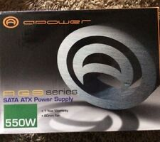 A-SUPPLY, AGS SERIES, SATA ATX POWER SUPPLY, 550W, 80MM FAN, NEW IN BOX
