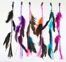 "Bundle 6 PC 15"" Multi-Colors Clip On In Colorful Real Feather Hair Extensions NY"
