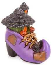 Witch's Boot House with Black Cat and Pumpkins!