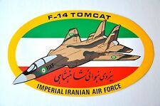 "EXTRA LARGE 14 1/4"" GENUINE GRUMMAN F-14 TOMCAT IRANIAN AIR FORCE STICKER/DECAL"