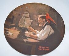 """* New * """"The Ship Builder"""" by Norman Rockwell Society Heritage Plate (3,Pl2)"""