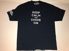 Keep Calm and Chive On T Shirt XL Dark Blue Official