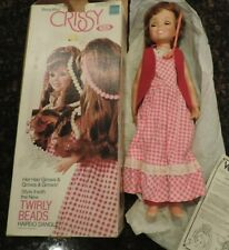 Vintage1974 Ideal Beautiful Crissy Doll withg Twirly Beads Hairdo Dangle in Box