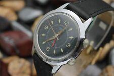 Vintage CLINTON Alarm 17 Jewel Hand Wind Men's Dress Watch