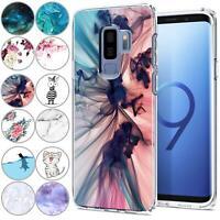 Handy Case für Samsung Galaxy S9 Plus Hülle Silikon Schutz Cover TPU Handyhülle