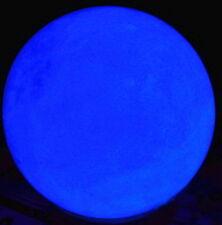 60mm Blue Glow White Jade Stone Glow In The Dark Stone Ball Hot AAA