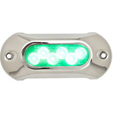 Light Armor Green Low Profile Underwater LED Light for Boats - 2,750 Lumens