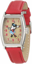 Disney Faux Leather Strap Adult Wristwatches