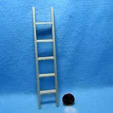 """Dollhouse Miniature 6"""" Straight Wood Ladder for Shed or Garden  CLA08670"""