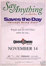 SAY ANYTHING / SAVES THE DAY 2014 SAN DIEGO CONCERT POSTER - Alt Rock Music