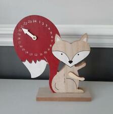 Rustic Wooden Fox Christmas Countdown Advent Calendar