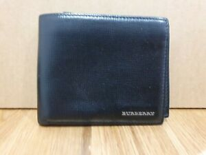 Authentic BURBERRY Leather Trifold Wallet Authenticate First
