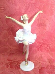 Wallendorf Porzellanfigur Tänzerin 1957/I tanzende Ballerina  H 24,5 cm 15486