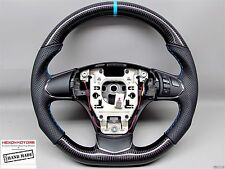 Corvette 2012-13 C6 Z06 ZR1 Thick Blue Stitch Flat Bottom CARBON STEERING WHEEL