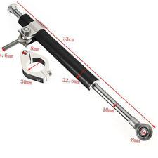 33cm Alu Motorrad Lenkungsdämpfer Universal mit 3cm Halterung For Honda Kawasaki