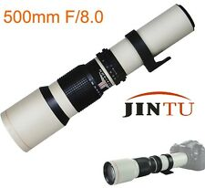 500mm F8.0 Telephoto Zoom Lens for NIKON D7100 D800 D700 D3100 D7000+T2 Mount