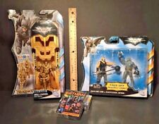 BATMAN Dark Knight Rises DELUXE Drill Cannon - Face Off w BANE- CARDS Lot of 4