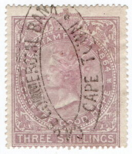 (I.B) Cape of Good Hope Revenue : Stamp Duty 3/- (1865)
