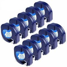 LT 91331 Plastic Letratag Refill Fit For Dymo Label Maker Tape 12mm White 10PK
