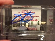 Jimmie Johnson Victory Race Used Spark Plug 2006 Aaron's 499 Autograph signed
