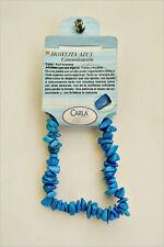 Howlite Blu bracciali di minerali, Blue Howlite bracelets C