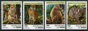 Niger Wild Animals Stamps 2015 MNH Primates Monkeys Bushbabies Baboons 4v Set
