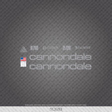 01028 Cannondale R700 Bicycle Stickers - Decals - Transfers - Silver