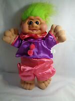 "Vintage 1991 I T B Troll Green Hair Pink Purple Outfit Plush Body 13""  - Rare"