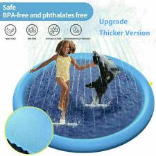"Splash Pad Kids Sprinkler Play Mat 59"" Wading Pool Summer Toddlers Outdoor Toy"
