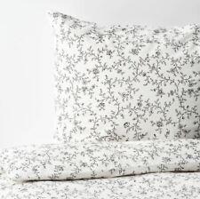 Ikea Kopparranka Double Duvet Set 200 x 200 cm Grey & White 2 Pillowcases