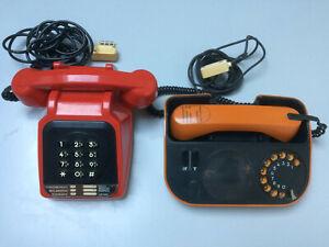 Lot téléphones SOCOTEL rouge et téléphone TELIC orange