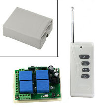 New 12V 10A 4 Channels Wireless Switch With Remote Control 1000M Home Automation