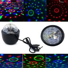 Mini Proiettore Laser Luci Discoteca Led RGB Palla Sfera Rotante Dj Multicolore