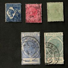 South Australia 1904-08 Mixed Lot of 5 Stamps