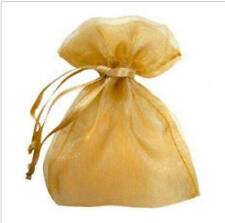 """100 pieces 2"""" x 3"""" MINI Organza Bags Wedding Party Favor Gifts gold"""