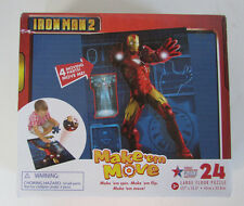 "Iron Man 2 Make'em Move Puzzle 24 pieces 17.7"" x 13.3"" NEW Sealed Box"
