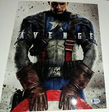 CHRIS EVANS signed 11x14 PHOTO CAPTAIN AMERICA picture Marvel Avengers BECKETT